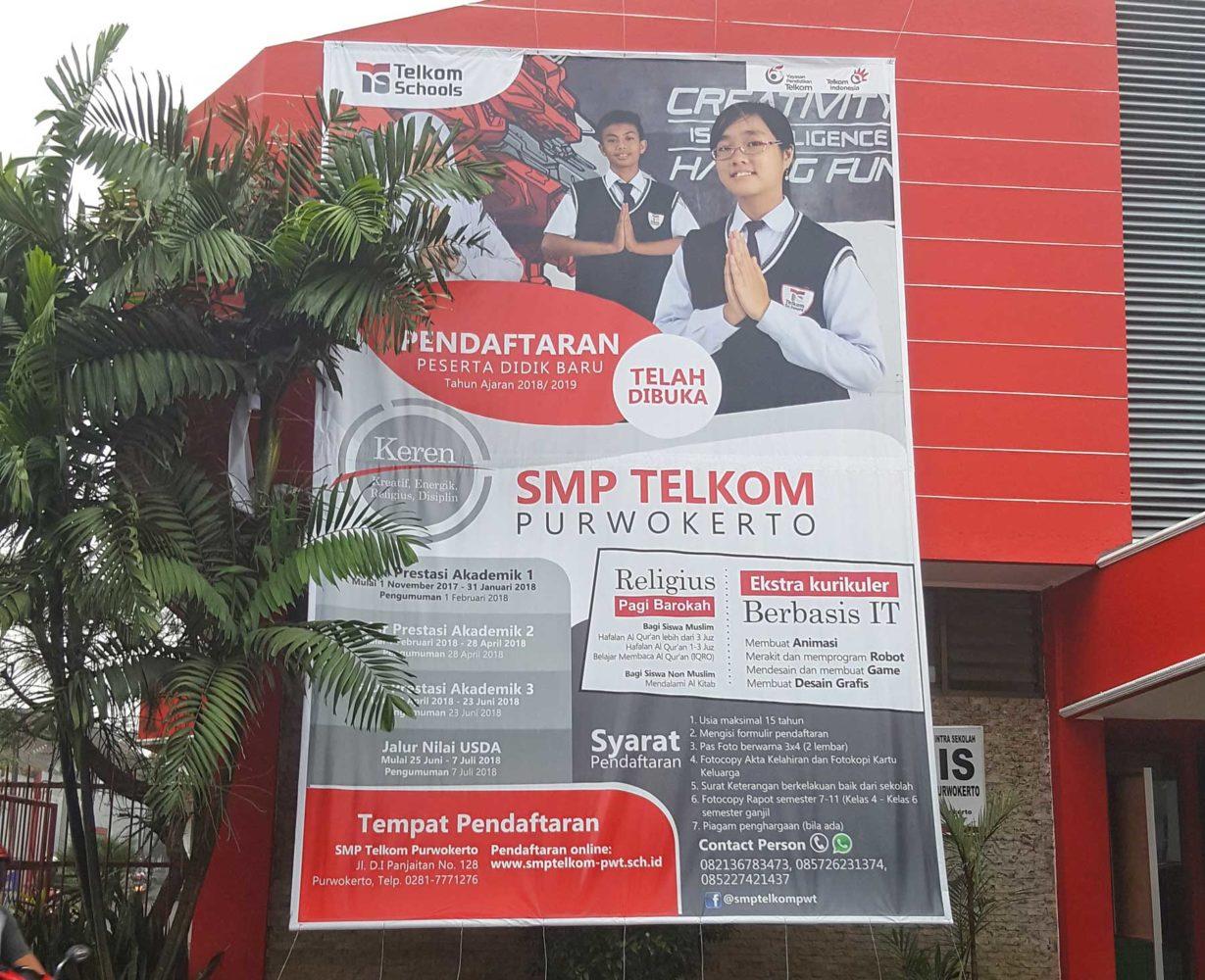 Informasi Pendaftaran SMP Telkom Purwokerto 2018